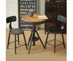 桌椅三件套奶茶 甜品店西餐厅休闲吧咖啡厅桌椅组合复古
