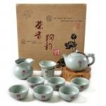 汝窑10件陶瓷茶具套装