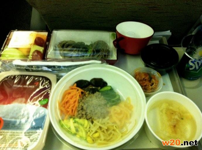 韩亚航空餐饮