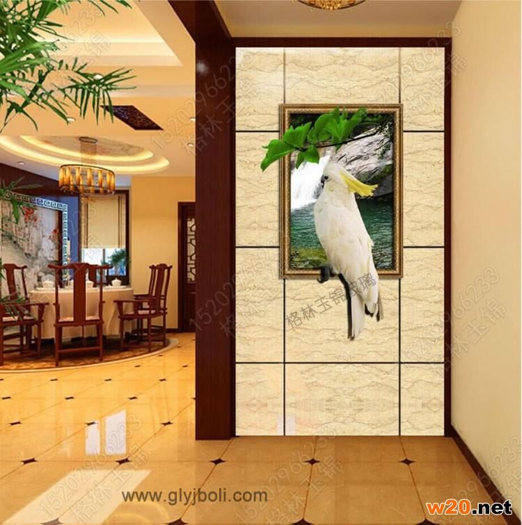 郑州艺术玻璃玄关效果图