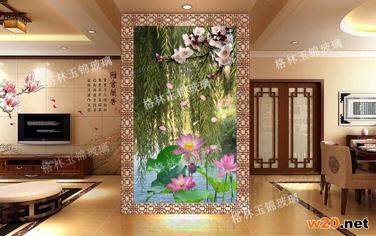 西安彩釉艺术玻璃隔断