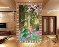 西安彩釉艺术玻璃隔断 ()