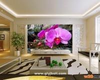 蝴蝶花电视背景墙效果图