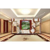 渭南酒店背景墙 彩釉玻璃背景墙