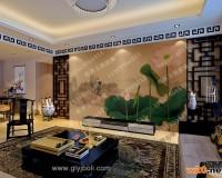 宁夏艺术玻璃电视背景墙