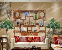 艺术玻璃沙发背景墙 ()
