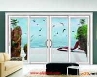 山西艺术玻璃门效果图