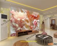 彩釉玻璃仿玉石电视背景墙效果图