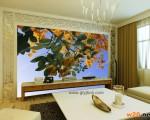 西安电视背景墙效果图 ()