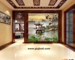 艺术玻璃玄关背景墙效果图 ()