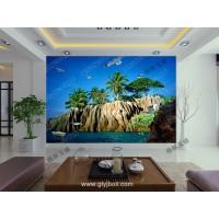 西安工艺玻璃电视背景墙