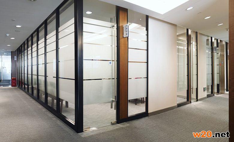 双层玻璃办公隔断