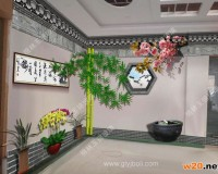 彩釉玻璃仿墙背景墙 ()