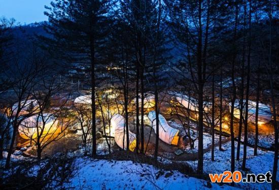 韩国的帐篷村