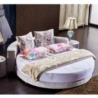 厂家直销卧室温馨简约时尚布艺圆床婚床