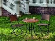 GRC桌面藤编咖啡桌椅-YTR581410