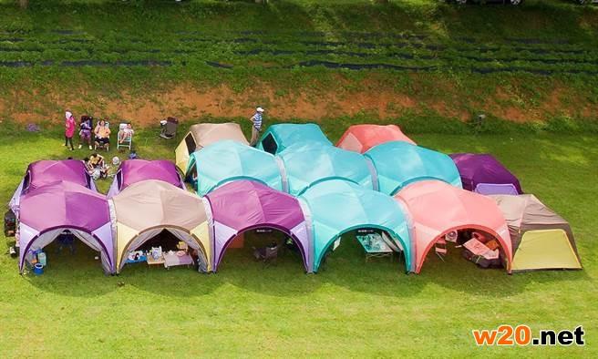 新型帐篷大串连