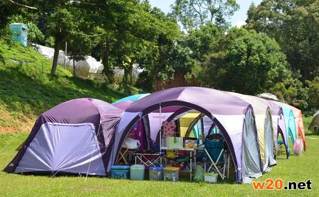 新型帐篷大串接