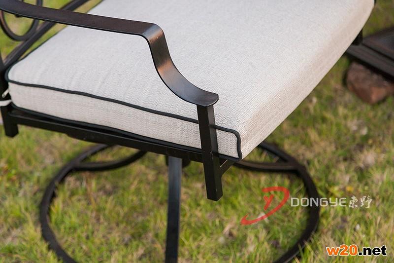 深浅啡网大理石洞石圆桌面餐桌椅组合