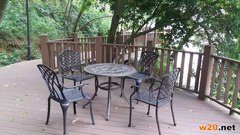 水库铁艺桌椅