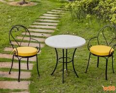 仿大理石阳台咖啡桌三件套
