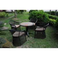 瓷砖拼花圆形桌面餐桌椅家具厂家直销