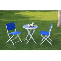 东野特斯林深蓝色折叠桌椅厂家直销