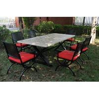 花园瓷砖百搭餐桌椅套装厂家直销