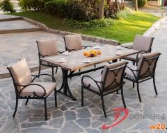 洞石户外餐桌椅定制