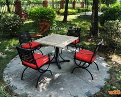 磁砖拼花休闲餐桌椅