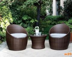 藤编向日葵形状咖啡桌椅
