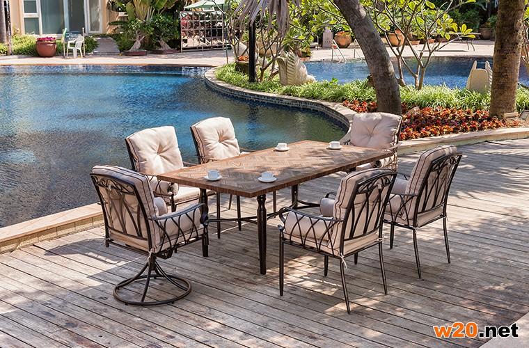 东野细木纹桌面大理石餐桌-YTC681501