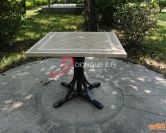 福州磁砖拼花桌面餐桌