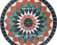 圆形瓷砖拼花家具桌面