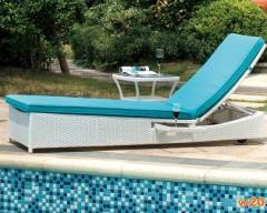 藤编躺椅泳池沙滩躺床