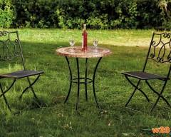 户外咖啡桌椅组 大理石台面