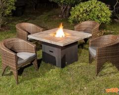户外休闲露天火炉桌椅