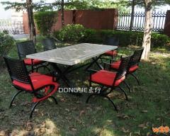 磁砖拼花户外餐桌椅组合