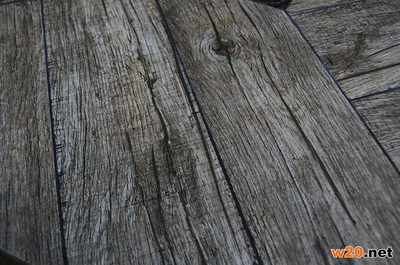 东野户外瓷砖圆形餐桌带伞孔YTC581601