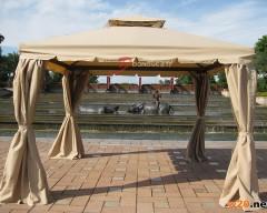 户外休闲铝合金四柱罗马棚帐篷