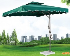 户外休闲深绿色方形遮阳伞