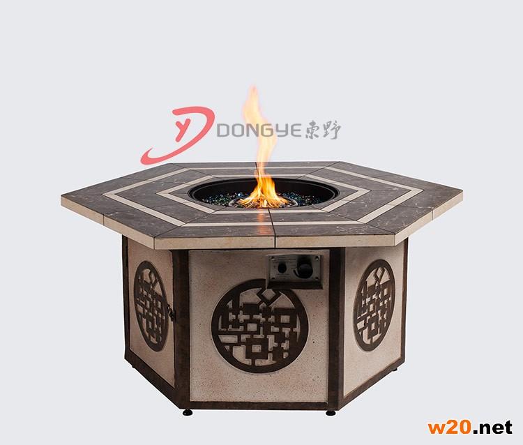 瓷砖桌面户外聚会火炉