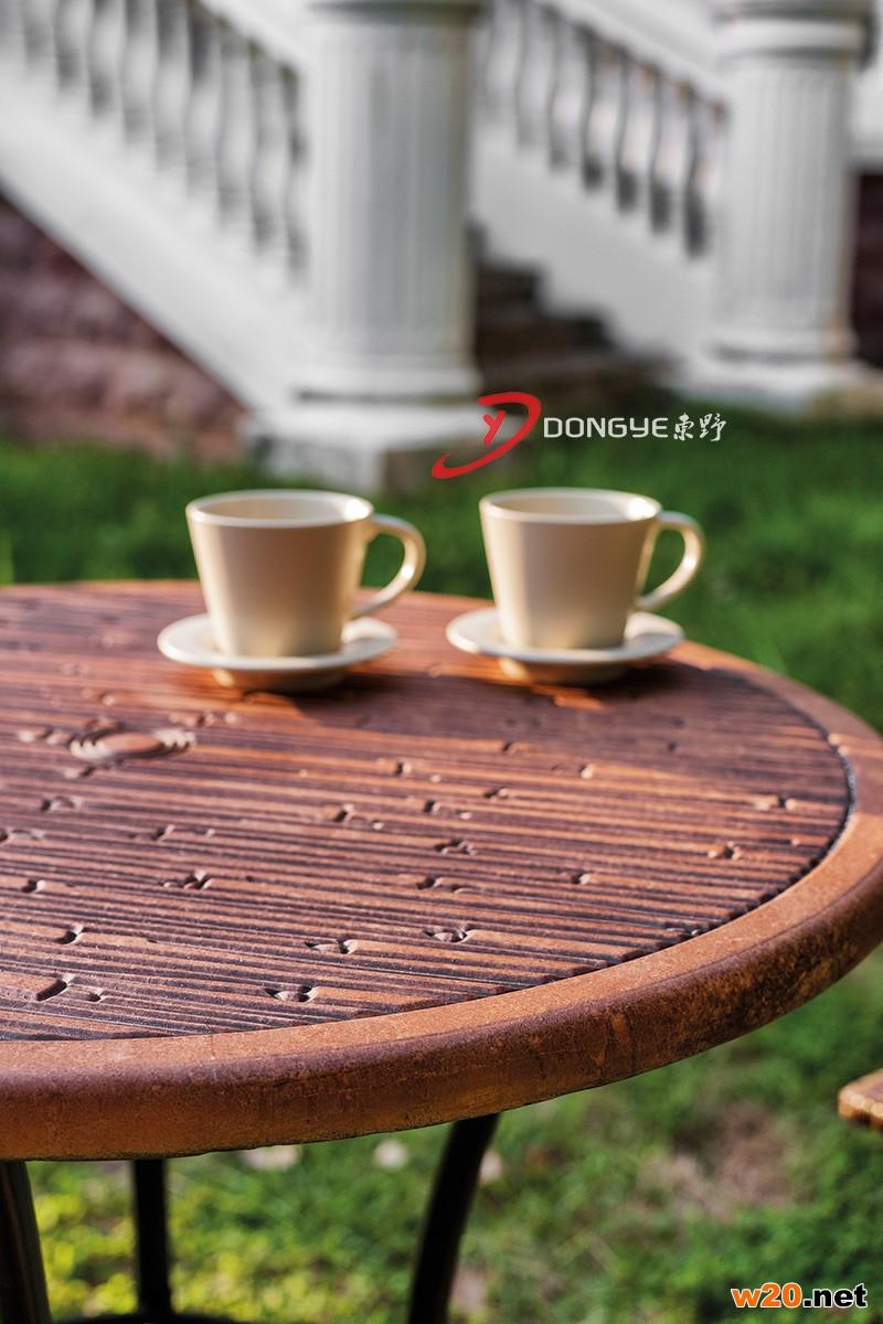 东野GRC桌面编藤咖啡桌椅-YTR581410