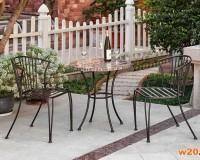 大理石拼花阳台三件套桌椅