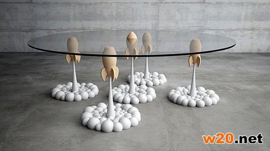 充满童真的火箭咖啡桌