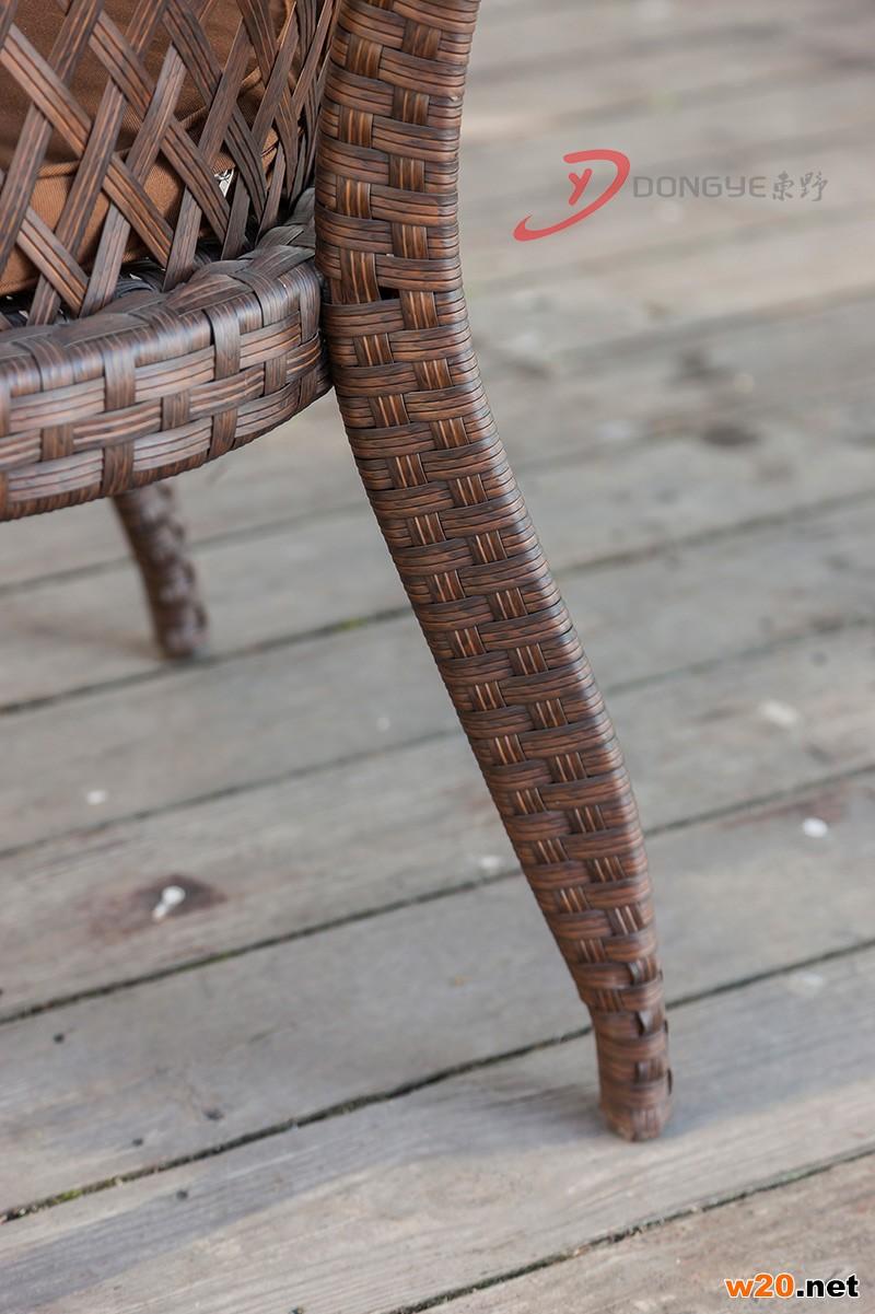休闲编藤咖啡厅桌椅