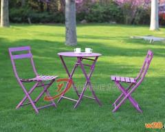 泉州可折叠铁艺咖啡桌椅