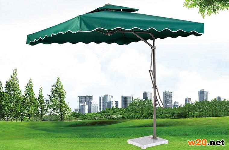 绿色方形遮阳伞