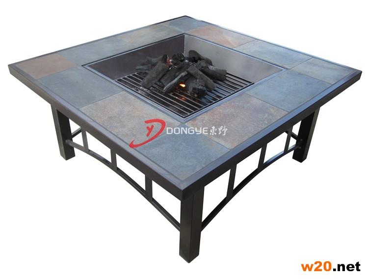 板岩桌面烧炭火炉桌子