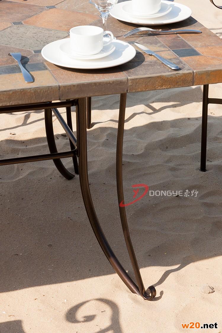 庭院家具红锈板岩餐桌